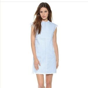 Marc Jacobs bleached denim shift dress